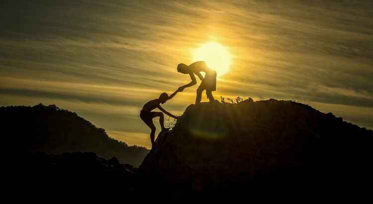 Giving a helping hand up a hill
